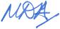 MDA signed initials